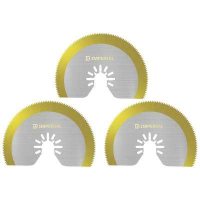 ONE FIT 3-1/8 in. Segment HSS Saw Blade TIN Storm Blade (3-Count)