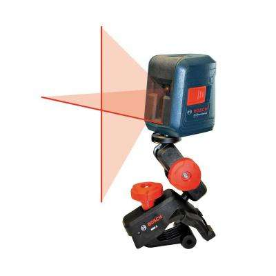 Self-Leveling Cross-Line Laser Level with Clamping Mount