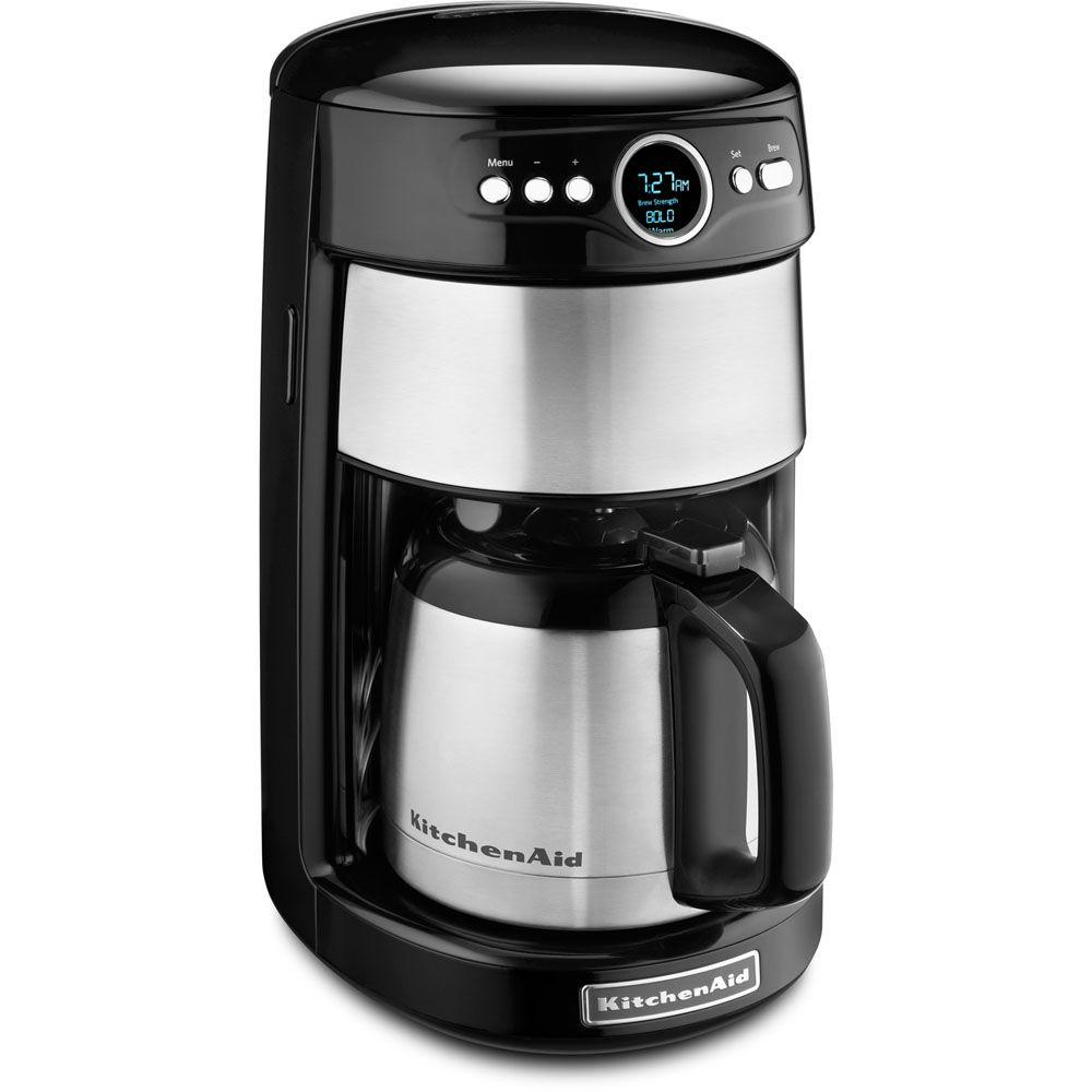 KitchenAid 12-Cup Programmable Coffee Maker with Thermal Carafe in Onyx Black