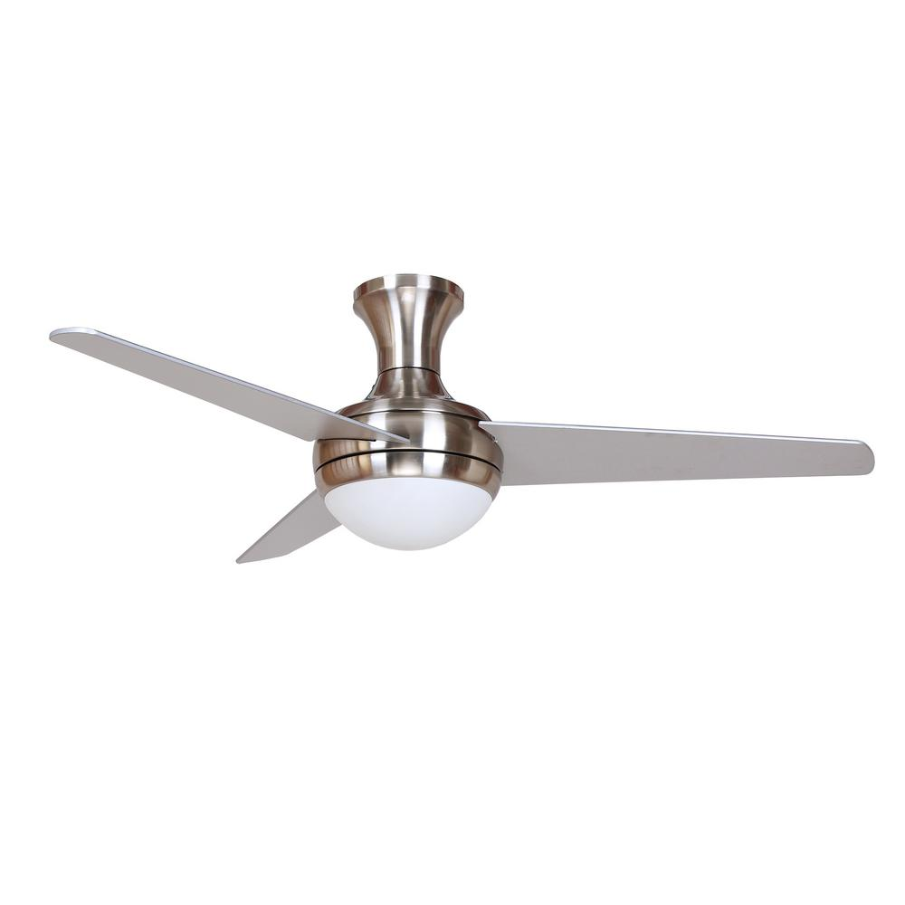 Y Decor Aislee 48 In Brushed Nickel Ceiling Fan Aislee Bn The Home Depot