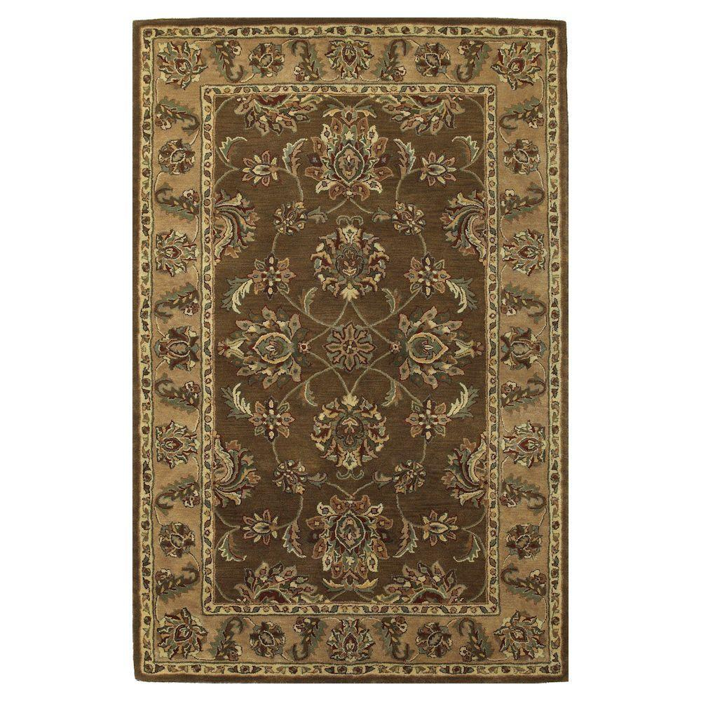 Kas Rugs Magesty Agra Mocha/Sand 5 ft. x 8 ft. Area Rug
