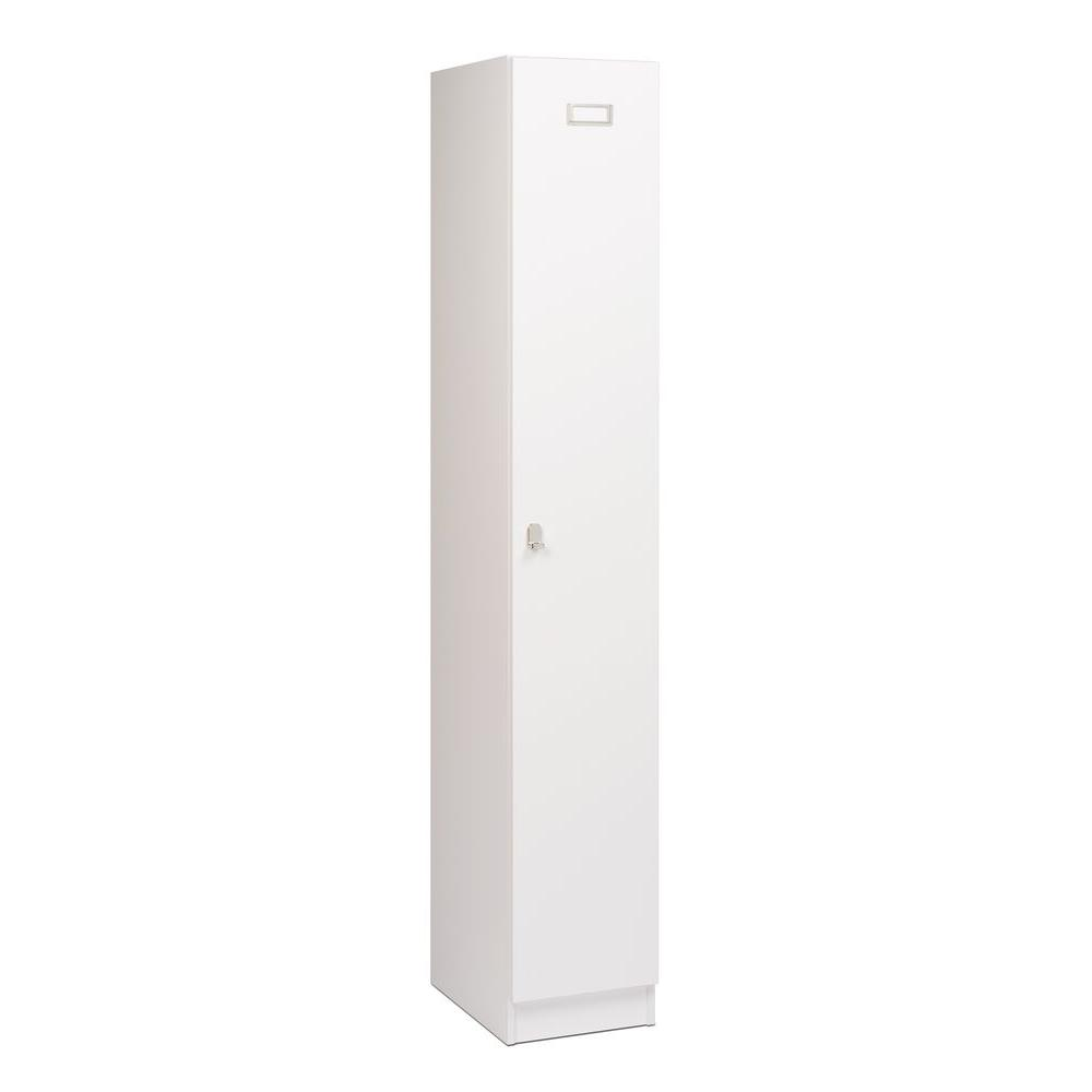 Prepac Elite Single-Tier Particle Board Locker in White, ...