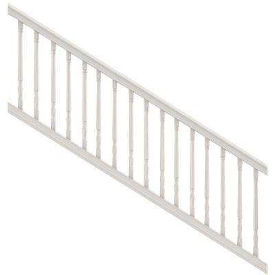 Premier 3 ft. x 8 ft. White Vinyl Stair Kit with Colonial Balusters