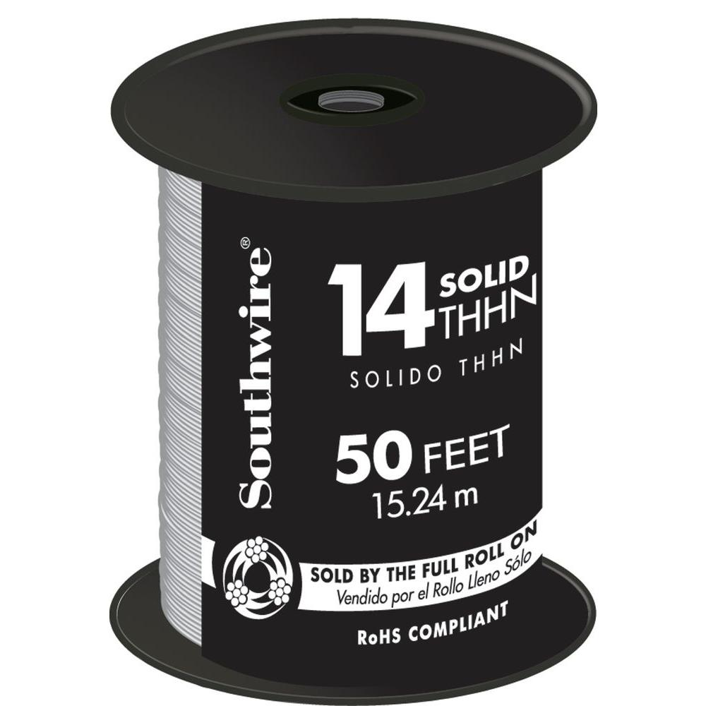 Southwire 100 ft. 14-Gauge Green Solid CU THHN Wire-11583242 - The ...