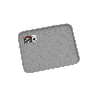 Gray 19.75 in. x 15.5 in. All-Weather Boot Tray
