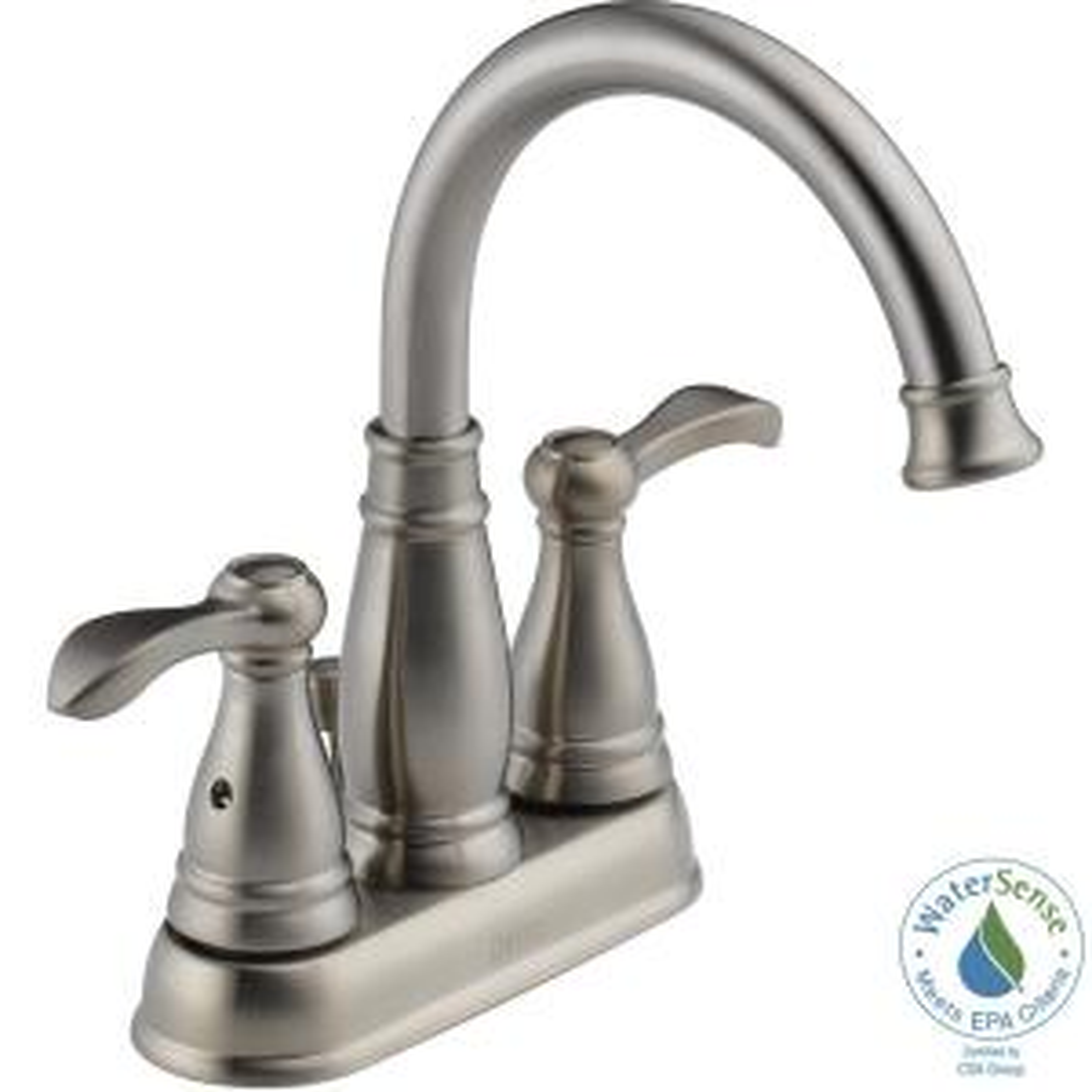 Porter 4 in. Centerset 2-Handle High-Arc Bathroom Faucet in Brushed Nickel
