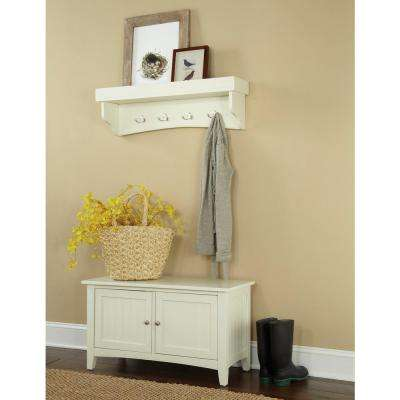Shaker Cottage Ivory Hall Tree with Storage