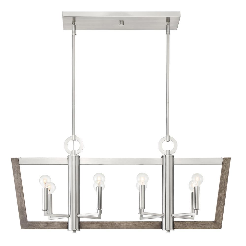 Designers Fountain Westend 8-Light Satin Platinum Interior Island Chandelier