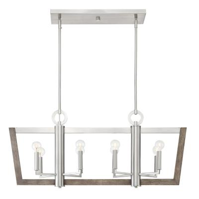 Westend 8-Light Satin Platinum Interior Island Chandelier