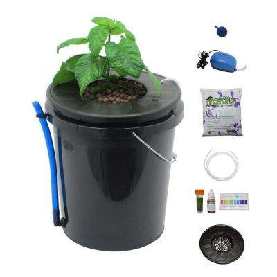 Black Bucket Deep Water Culture Hydroponic System