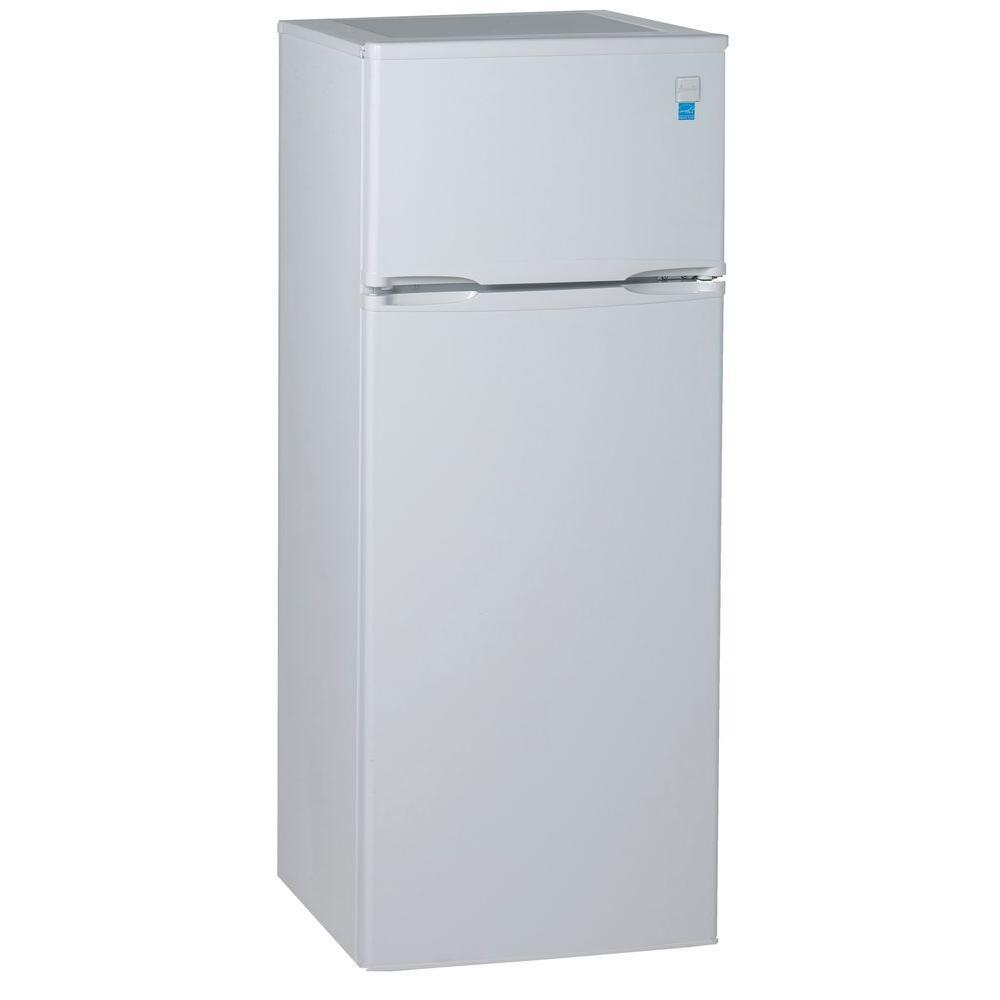 Magic Chef 9.9 cu. ft. Top Freezer Refrigerator in White-HVDR1040W ...