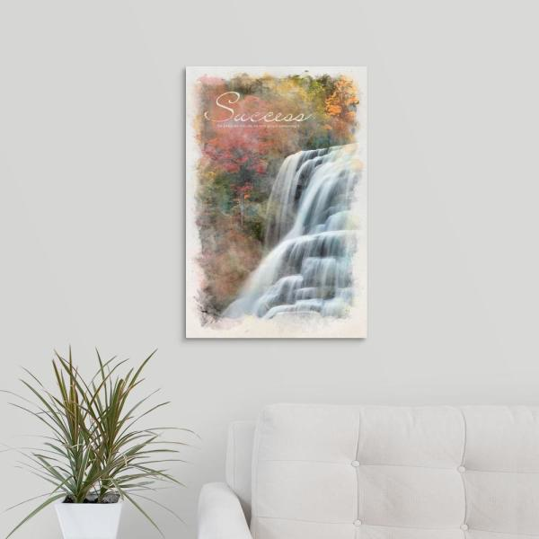 "GreatBigCanvas ""Watercolor Inspirational Poster: Success"" by  Kate Lillyson Canvas Wall Art"