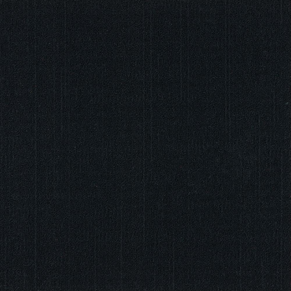 19.68 in. x 19.68 in. Reed Black Level Loop Carpet Tile