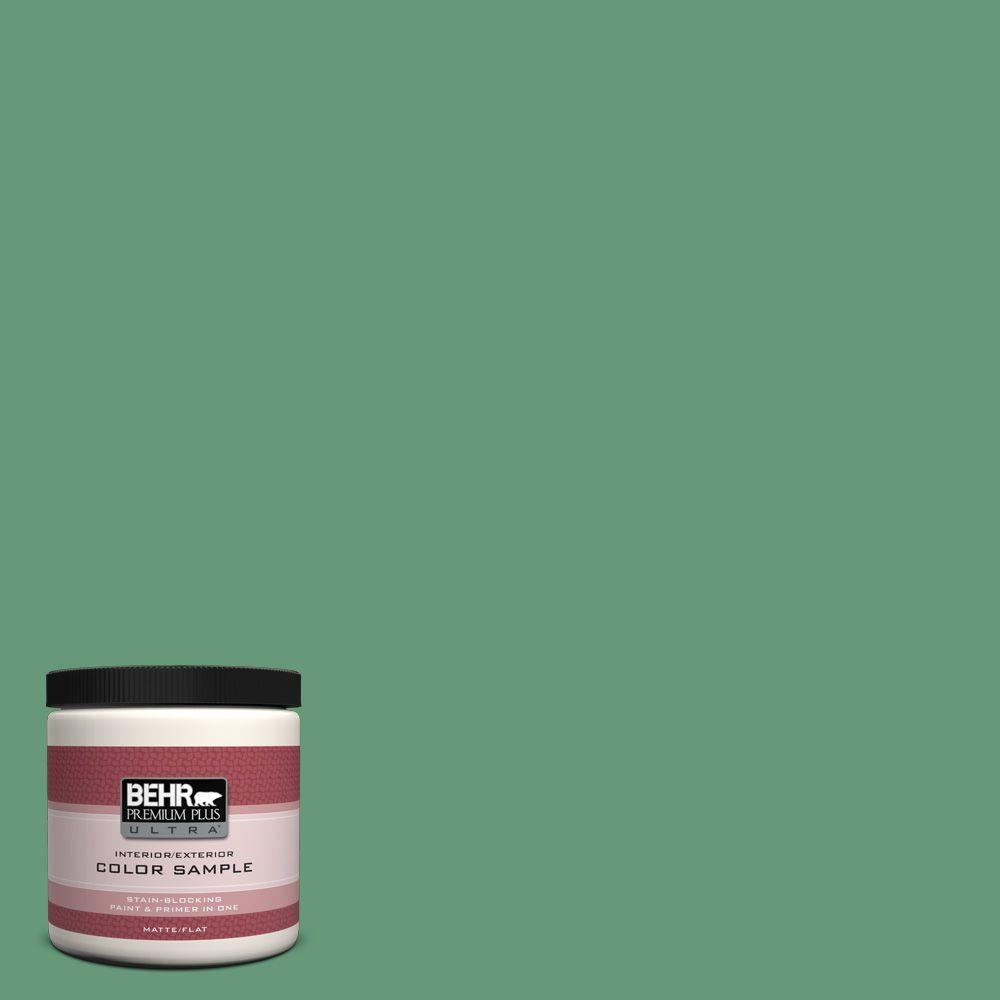 BEHR Premium Plus Ultra 8 oz. #470D-5 Herbal Interior/Exterior Paint Sample
