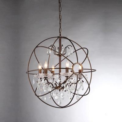 Edwards 26 in. 6-Light Indoor Chrome Finish Chandelier with Light Kit