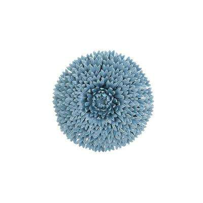 Bea Flower Wall Decorative Sculpture in Sky Blue