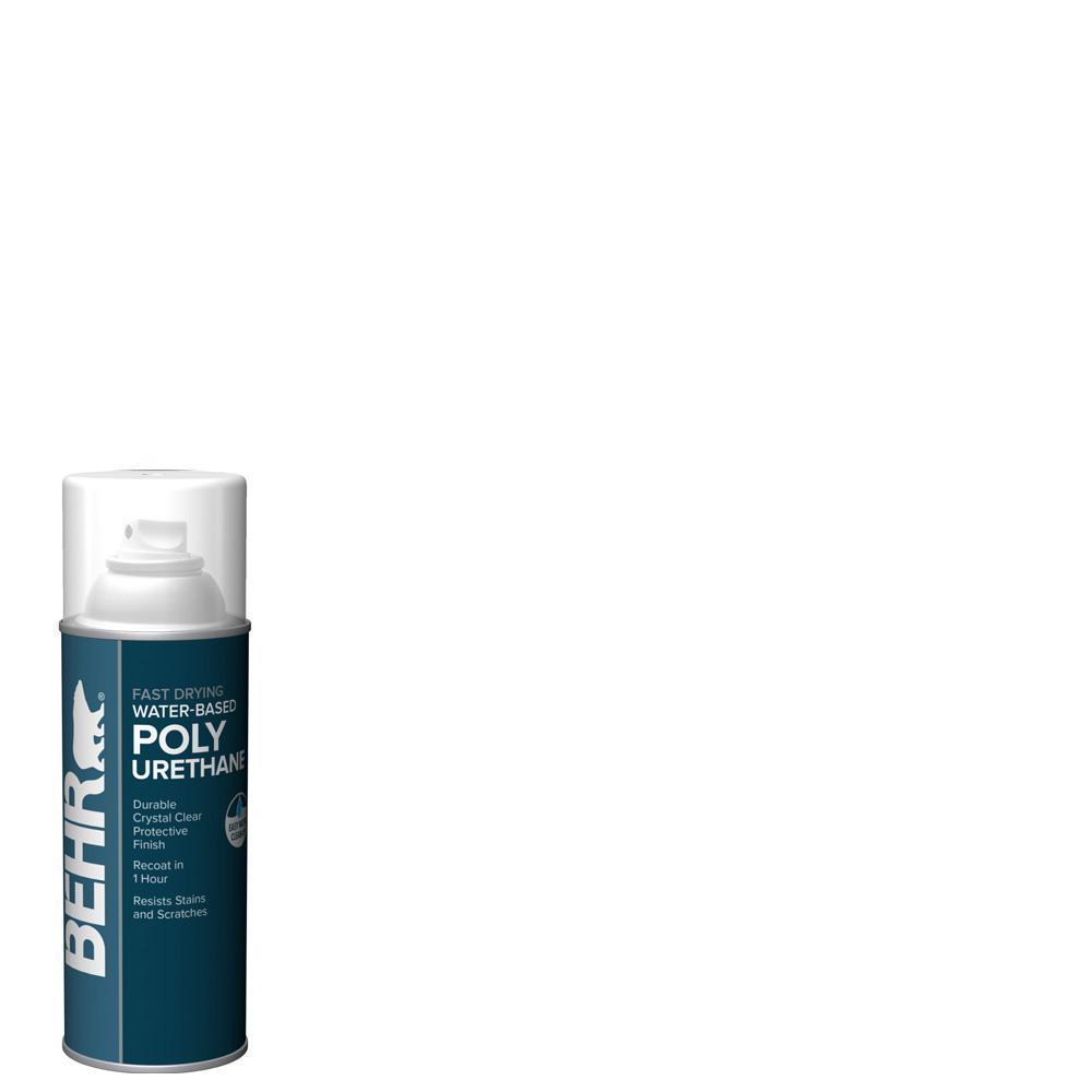 Behr 11 5 Oz Matte Clear Water Based Interior Fast Drying Polyurethane Sealer Aerosol B810644 The Home Depot