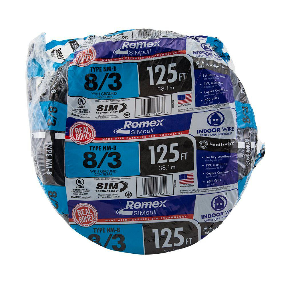 28 Southwire 75 Ft 8 2 Stranded Romex Simpull Cu Nm B W G Wire 1000 12 Solid Nmb Wire28828201 The Home Depot 28893624