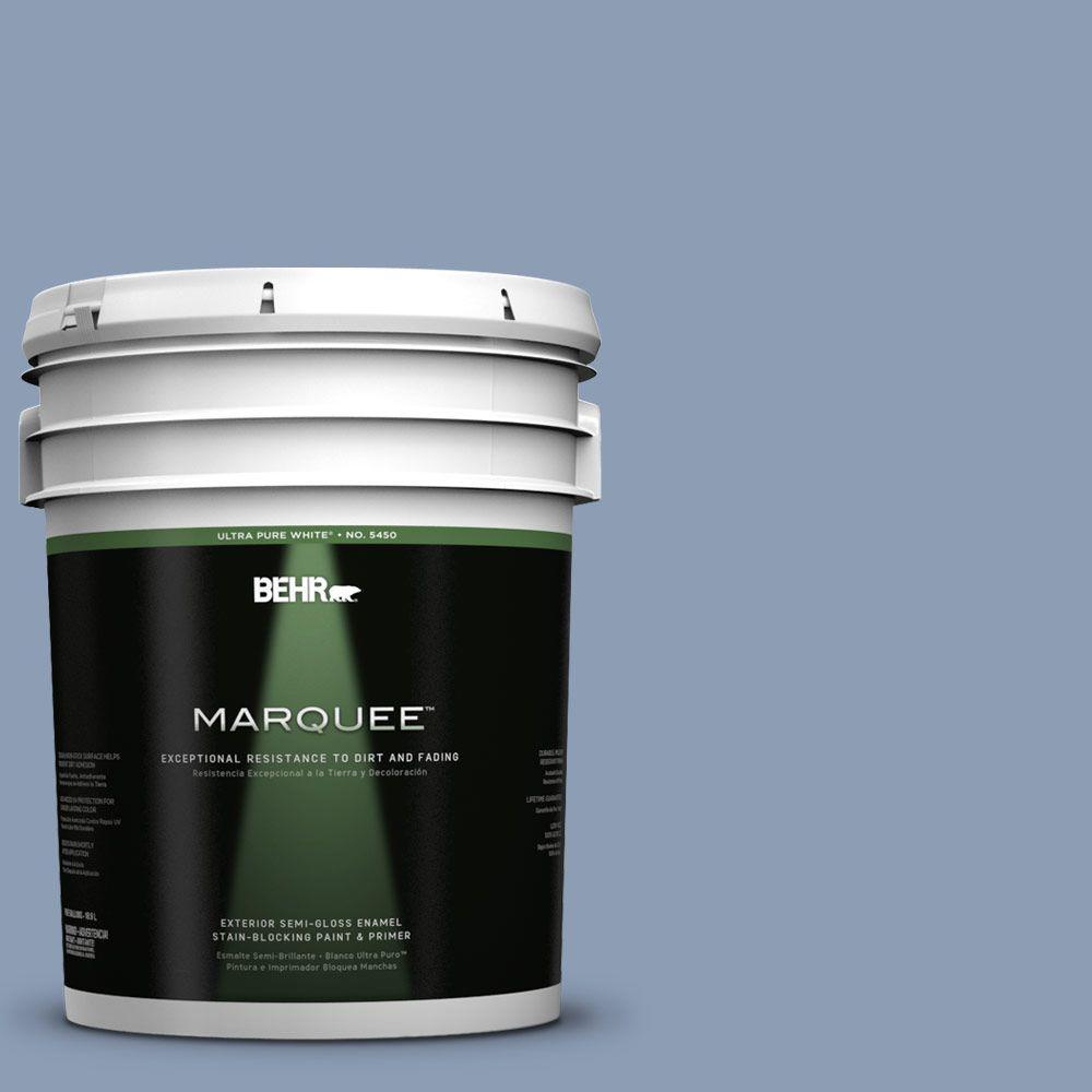5-gal. #PMD-72 Periwinkle Dusk Semi-Gloss Enamel Exterior Paint