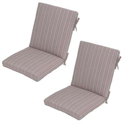 Exceptional Saddle Stripe Outdoor Dining Chair Cushion (2 Pack)