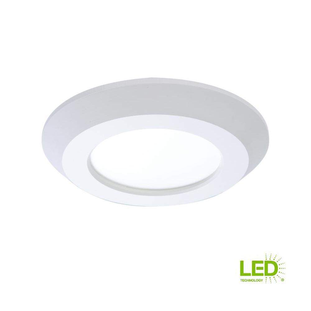 White Integrated Led Recessed Trim Downlight 80 Cri 3000k Cct With Junction