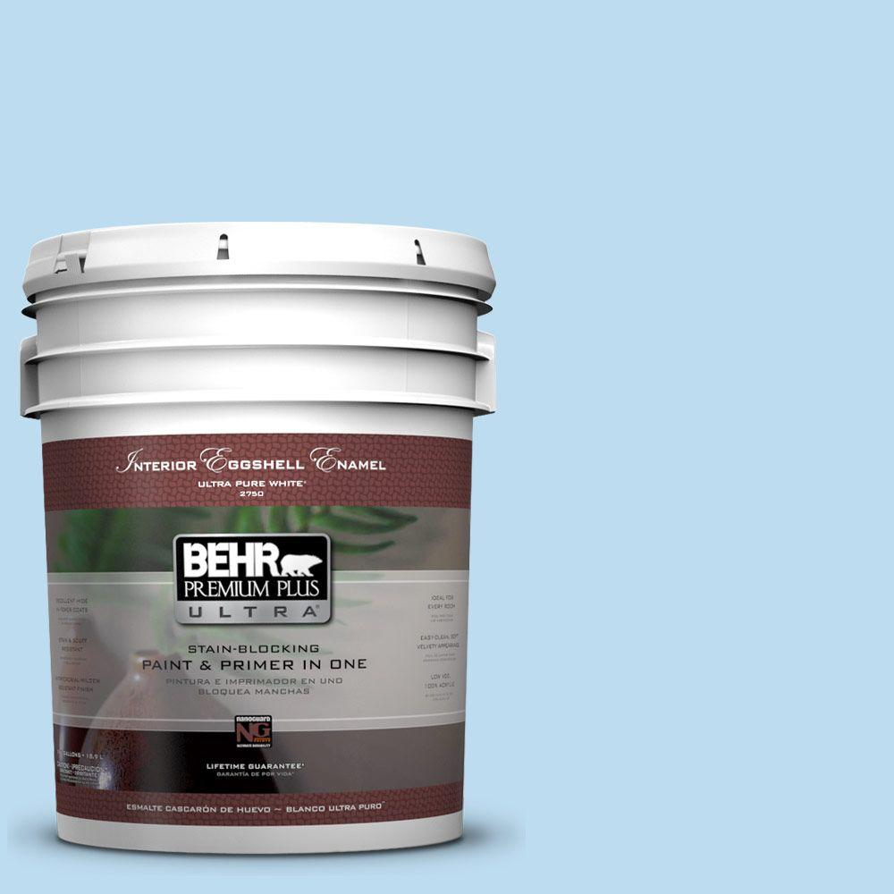 BEHR Premium Plus Ultra 5-gal. #550A-2 Tropical Pool Eggshell Enamel Interior Paint