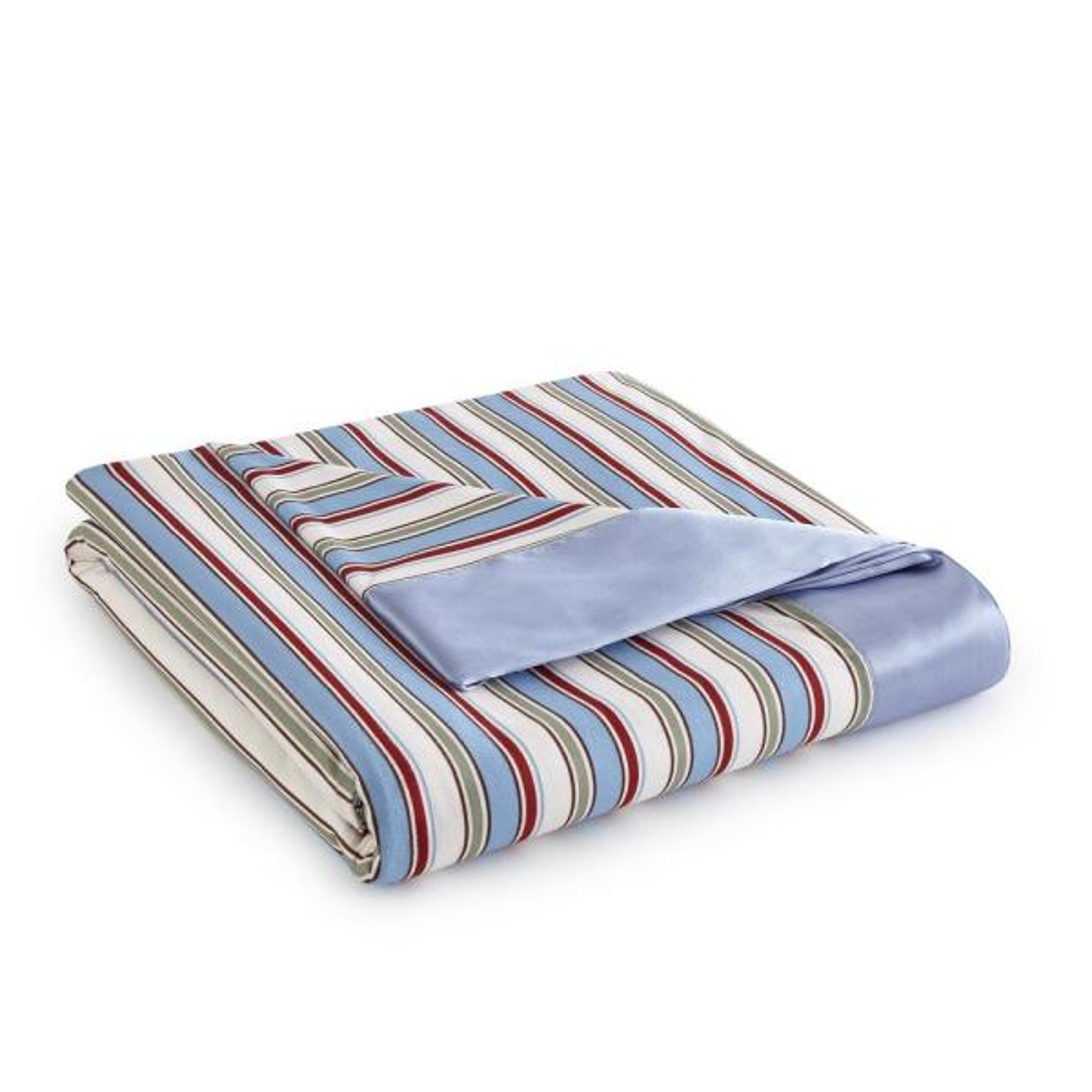 Micro Flannel King Awning Stripe Year Round Polyester Sheet Blanket MFNBKKGAST