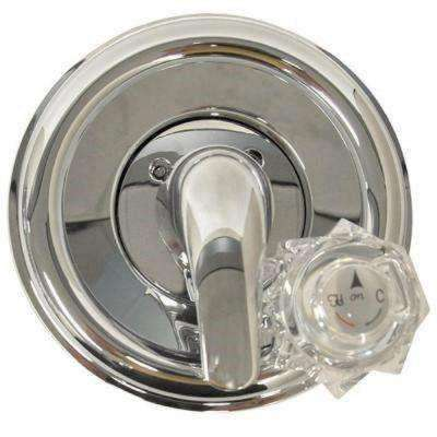 Single-Handle Tub and Shower Trim Kit for Delta Faucets in Chrome Finish (Valve Not Included)