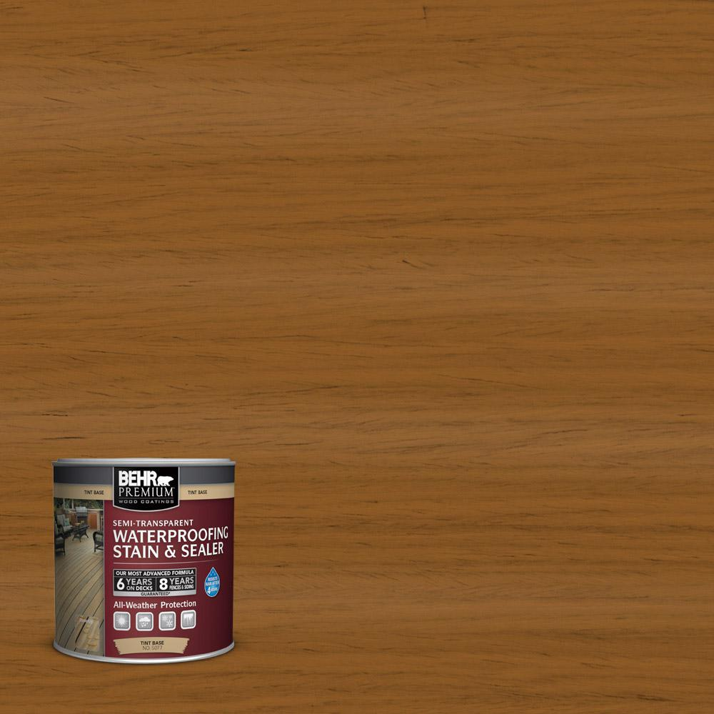 BEHR Premium 8 oz. #ST-134 Curry Semi-Transparent Waterproofing Stain and Sealer Sample