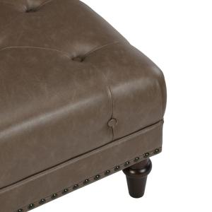 Groovy Dorel Living Carillo Taupe Tufted Ottoman With Nail Heads Pabps2019 Chair Design Images Pabps2019Com