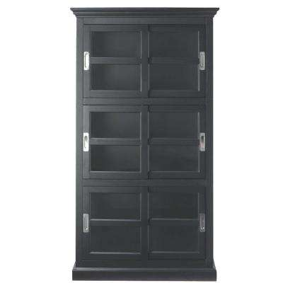Lexington Black Glass Door Bookcase
