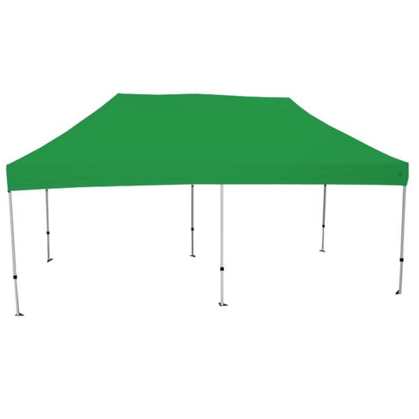Goliath 10 ft. x 20 ft. Silver Frame Instant Pop Up Tent with Green Cover