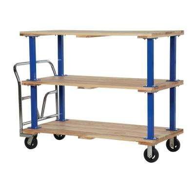 30 in. x 60 in. Triple Deck Hardwood Platform Cart