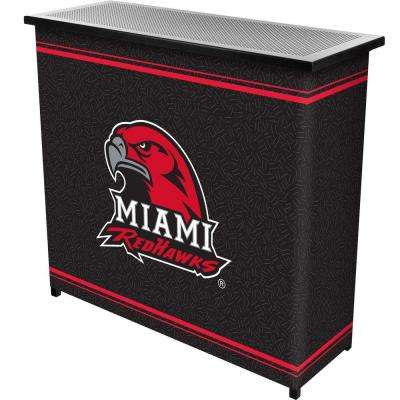 Miami University, Ohio 2-Shelf Black Bar with Case