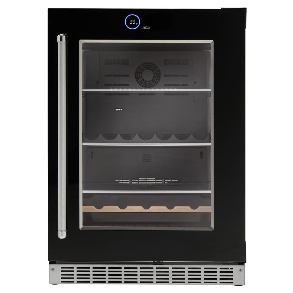Silhouette 24 in. 5.0 cu. ft. Freezerless Built-In Refrigerator in Black