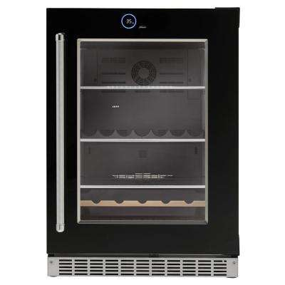 24 in. 5.0 cu. ft. Freezerless Built-In Refrigerator in Black