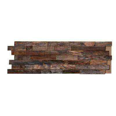 3/4 in. x 7-7/8 in. x 23-5/8 in. Natural Mahogany 3D Solid Hardwood Interlocking Wall Plank