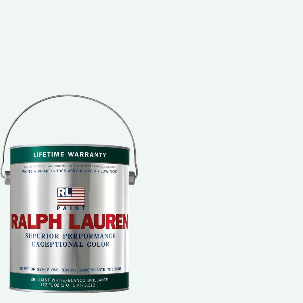 Ralph Lauren 1-gal. Brilliant White Semi-Gloss Interior Paint
