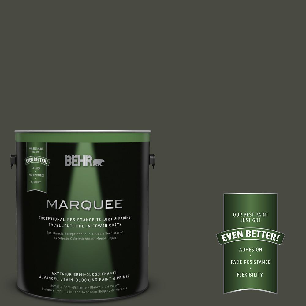 BEHR MARQUEE 1-gal. #ECC-47-3 Twilight Forest Semi-Gloss Enamel Exterior Paint