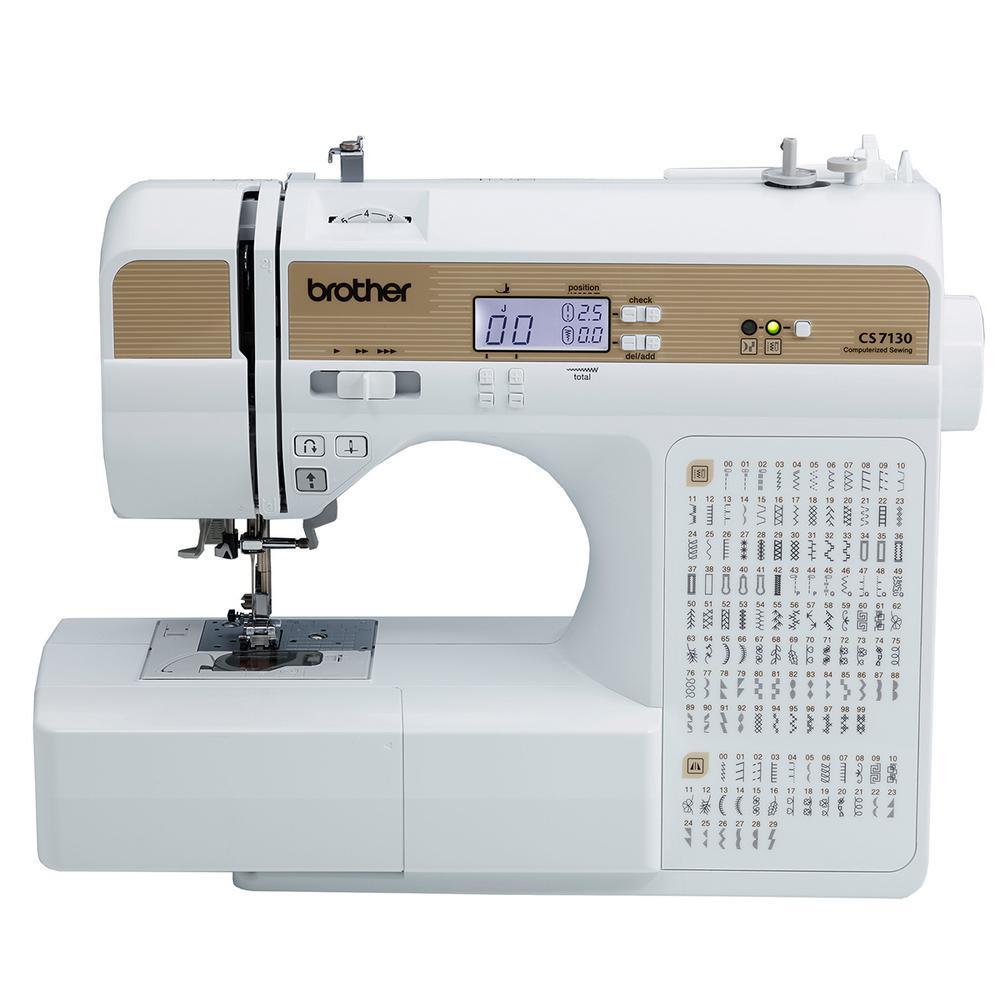 Brother 130-Stitch Computerized Sewing Machine, White