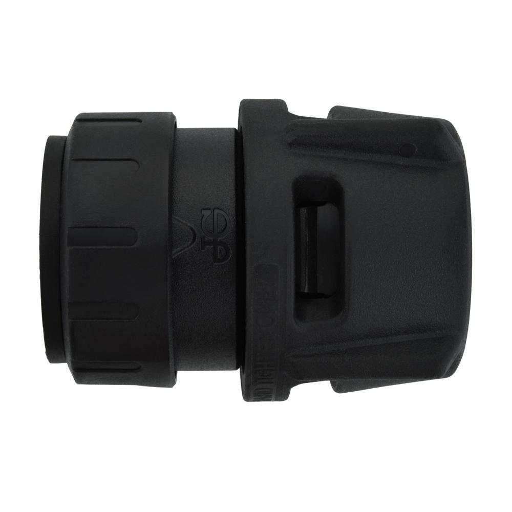 SharkBite ProLock SharkBite ProLock 3/4 in. Push-to-Connect x FIP Plastic Adapter Fitting (6-Pack), Black
