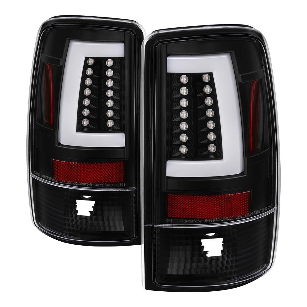 Chevy Suburban Tahoe 1500 2500 00 06 Gmc Yukon Xl Version 2 Light Bar Led Tail Lights Black
