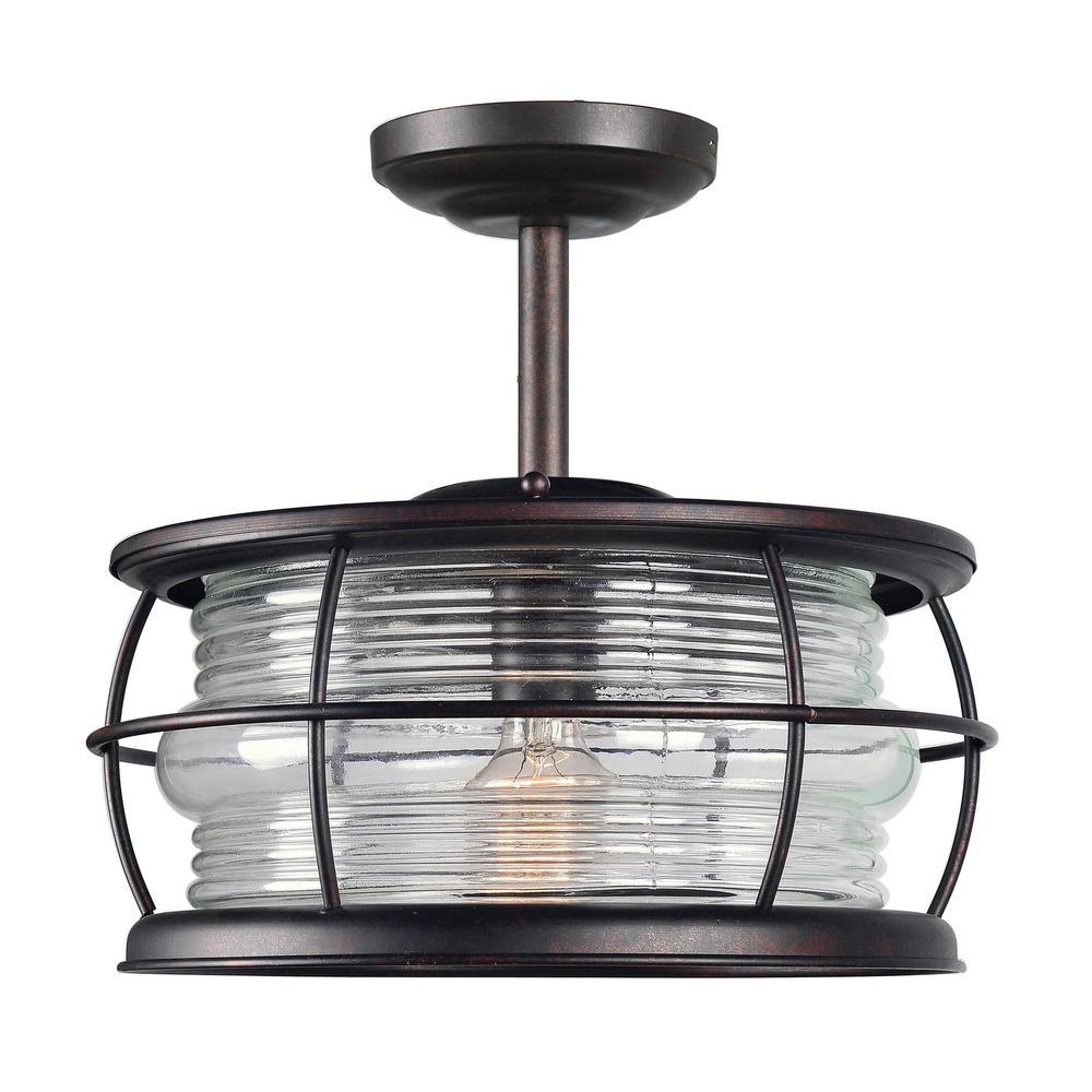 Beacon Copper 1 Light Outdoor Semi Flushmount 90954gc