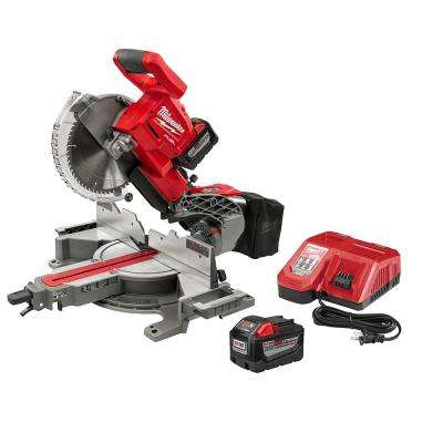 M18 FUEL 18-Volt Lithium-Ion Brushless Cordless 10 in. Dual Bevel Sliding Compound Miter Saw Kit with Extra Blade