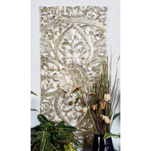 Litton Lane 22 In X 48 Extra Large Hand Carved Metallic