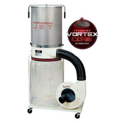 2 HP 1200 CFM 4 or 6 in. Dust Collector with Vortex Cone and 2-Micron Canister Kit, 230-Volt, DC-1200VX-CK1