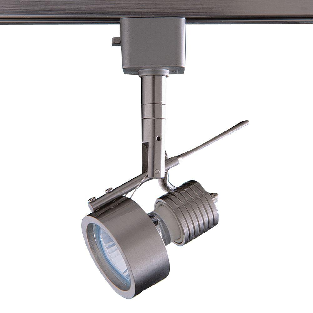 Series 16 Line-Voltage GU-10 Satin Nickel Track Lighting Fixture