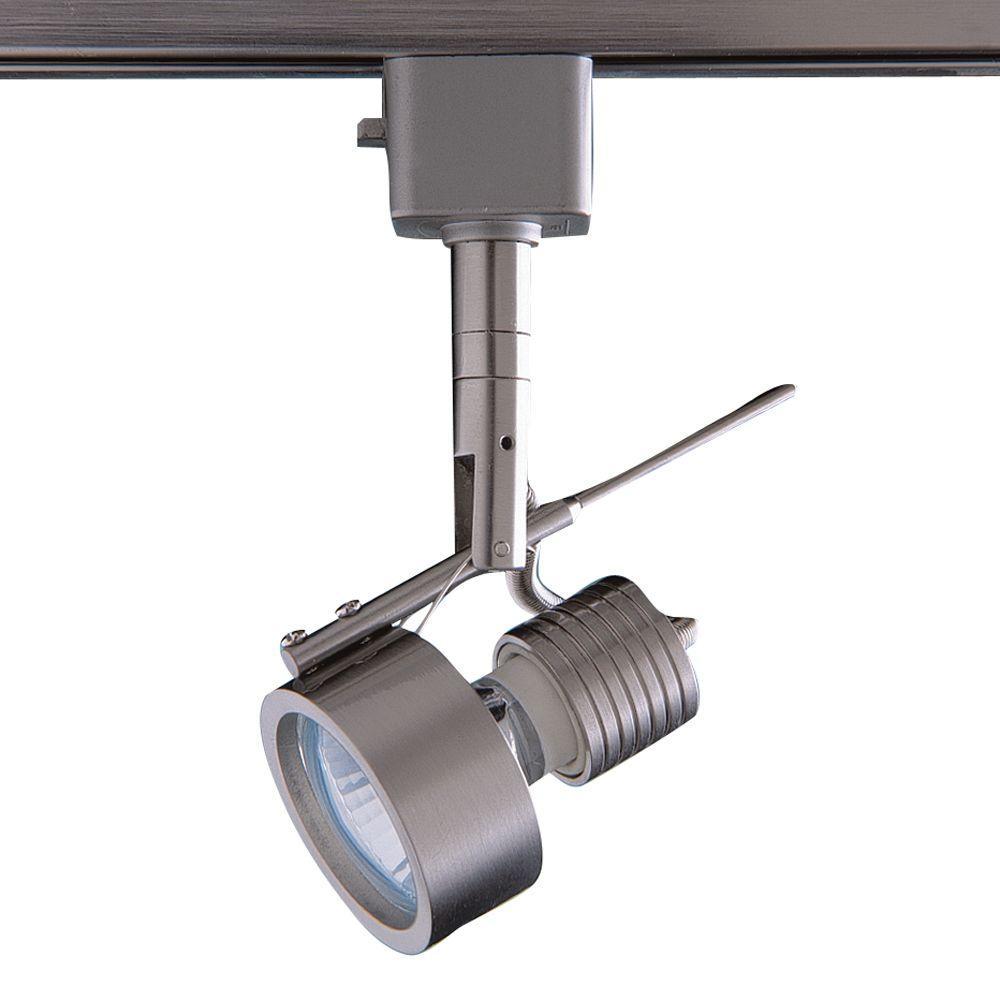 Series 16 Line-Voltage GU-10 Satin Nickel Track Lighting Fixture