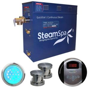 SteamSpa Indulgence 10.5kW Steam Bath Generator Package in Brushed Nickel by SteamSpa
