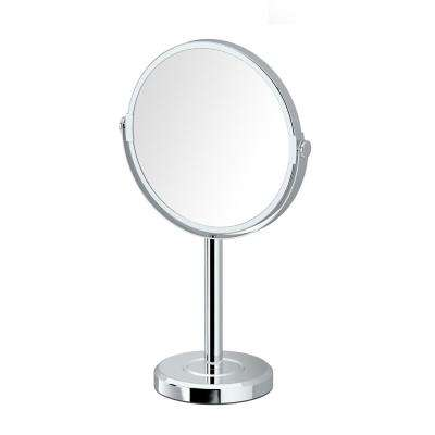 Latitude II Minimalist 12.5 in. Countertop 3x Magnification Makeup Mirror in Chrome